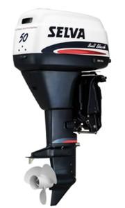 Компактный лодочный подвесной двигатель Selva Bull Shark 50