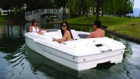 Компактная лодка на электротяге Platinum i4