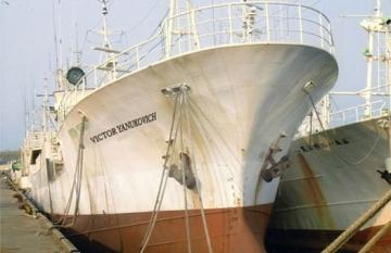 Именем Януковича назвали рыболовецкое судно