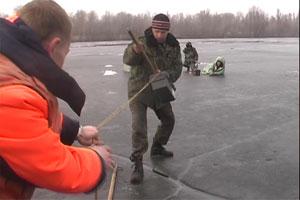 В Днепропетровске спасли четверых рыбаков