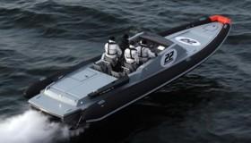 Скоростная надувная лодка с жестким днищем Goldfish 36