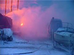 В Одесской области горел яхт-клуб