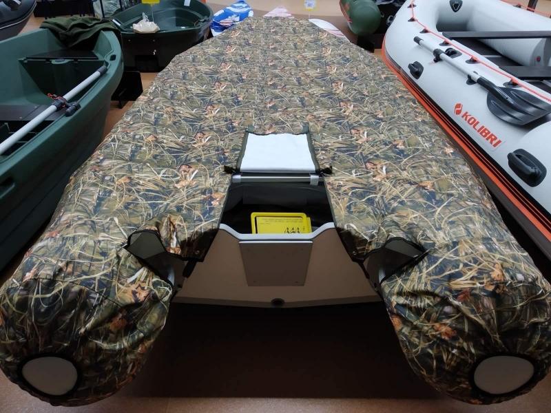 Тент транспортировочный, стояночный TENTOR для лодки 380 RIB, цвет камуфляж