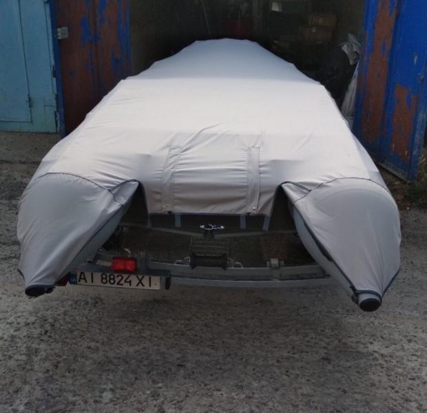 Тент транспортировочный, стояночный TENTOR для лодки 400, цвет серый