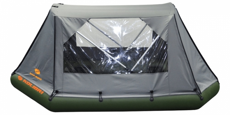 Палатка для лодки Колибри К-290Т (темно-серая)