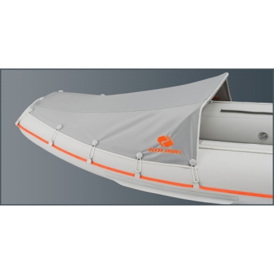 Носовой тент для надувной лодки каноэ Колибри КМ-330С, КМ-390С, KM-460С (малый) серый