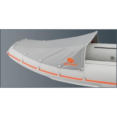 Носовой тент для надувной лодки Колибри КМ-300DL, KM-330DL, KM-330DSL, KM-360DSL (малый) серый