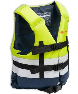 Жилет страховочный в лодку Колибри 90-110 кг (желтый+белый+синий)