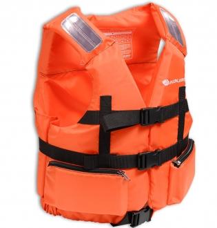 Жилет страховочный в лодку Колибри 90-110 кг (оранжевый)