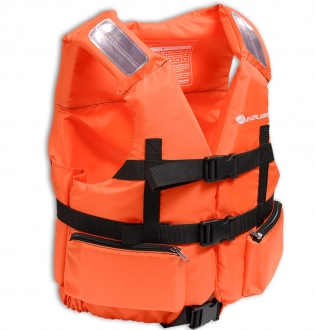 Жилет страховочный в лодку Колибри 110-130 кг (оранжевый)