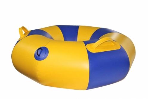Тюбинг надувной Ладья с чехлом и насосом в комплекте (желтый с синим)