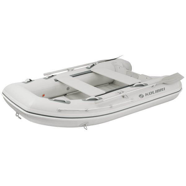 Надувная моторная лодка Колибри KM-270DXL килевая серия Explorer настил из алюминия