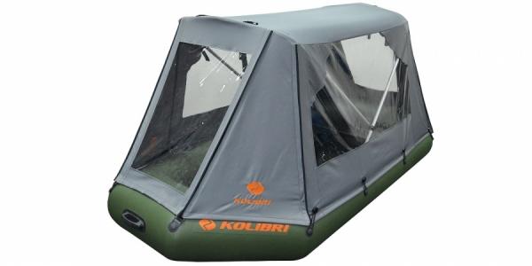 Палатка для лодки Колибри КМ-330DL, КМ-330DSL (темно-серая)