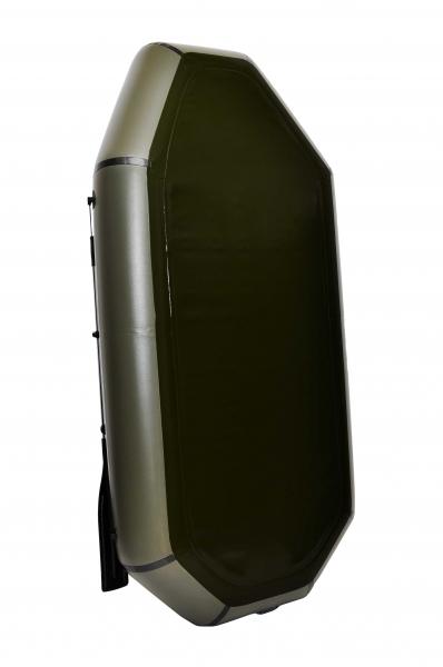Надувная Лодка Лисичанка Л-240ПТ, без настила, с передвижными сиденьями и навесным транцем