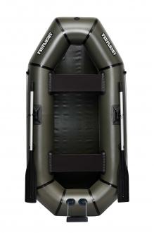 Надувная Лодка резиновая Лисичанка Л-240ТУ, лодка без настила для рыбалки