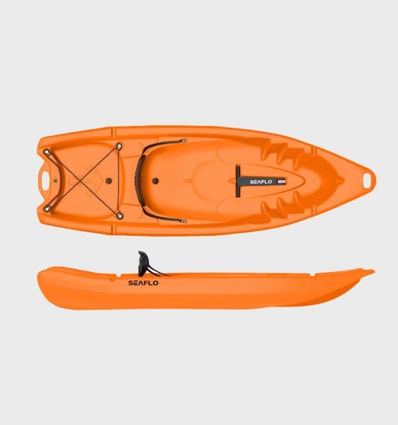 Пластиковый каяк SeaFlo SF-2002-OR, каяк корпусный 1 местный, оранжевый каяк
