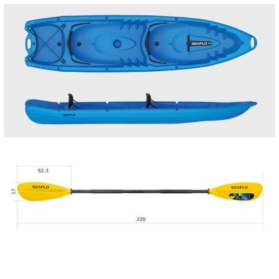 Пластиковый каяк SeaFlo SF-4001-BL, каяк корпусный 2 - х местный, синий каяк Сифло 2 х местный