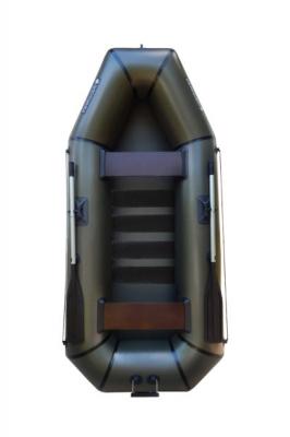 Надувная Лодка Лисичанка Л-280СБТ, со слань-ковриком, привальным брусом и навесным транцем