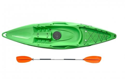 Каяк Riverday OnWave-300, туристический одноместный каяк, зеленый