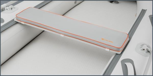 Мягкое сиденье Kolibri K-280СТ, K-300СT, КМ-200, КМ-260, КМ-280 серое
