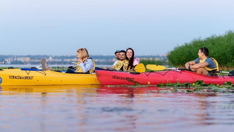 Каяк туристический Riverday One GO! желтый