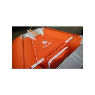 Носовая сумка для лодки ПВХ Kolibri КМ400DSL - КМ450DSL с комплектом креплений оранжевая