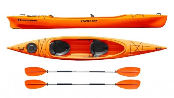 Каяк туристический Riverday Twin GO! оранжевый