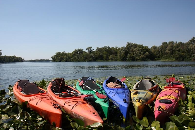 Каяк туристический Riverday One GO! оранжевый