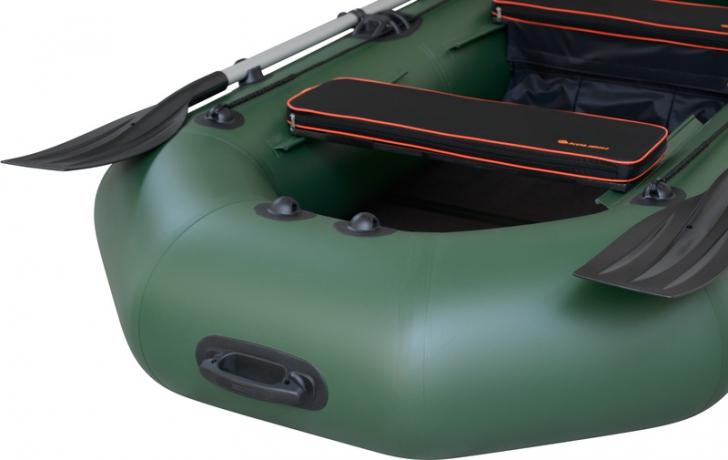Надувная лодка Колибри К-260T светло-серая, слань-коврик