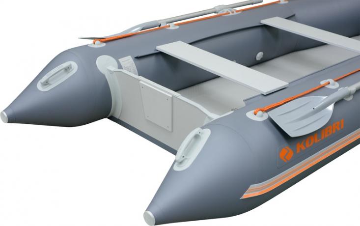 Лодка под мотор Колибри КМ-200 светло-серая, без настила