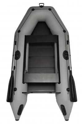 Лодка моторная надувная, лодка моторная резиновая GRIF boat GM-280, лодка резиновая под мотор до 6 л.с., лодка светло серый, борт 38 см