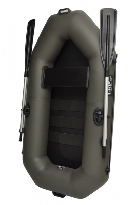 Надувная лодка GRIF boat GA-190, с веслами, для одиночной рыбалки