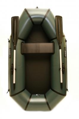 Легкая одноместная надувная лодка Grif boat GH-210L, лодки надувные резиновые, лодка пвх полуторка