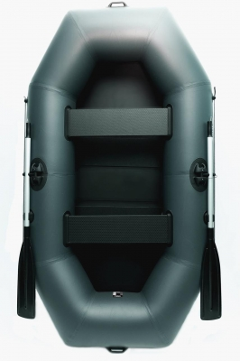 Лодка резиновая надувная GRIF boat GN-250, лодка ПВХ двухместная, лодка со слань-ковриком, баллон 38 см