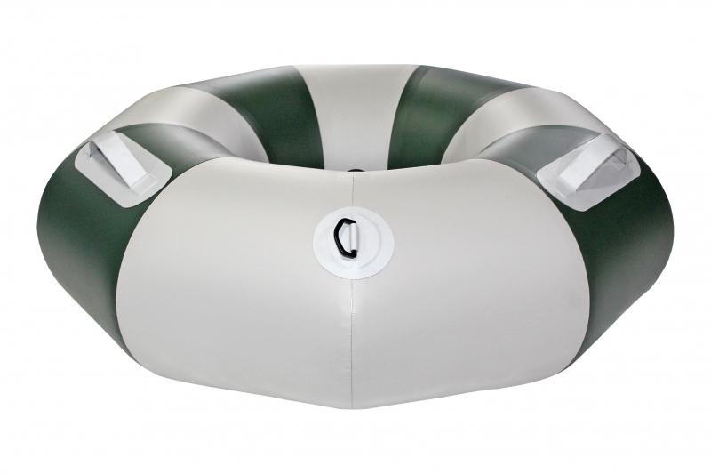 Тюбинг надувной Ладья с чехлом и насосом в комплекте (серо-зеленый)