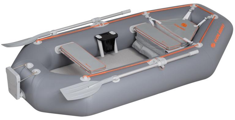 Надувная лодка Колибри К-300СT трехместная с настилом air-deck зеленая