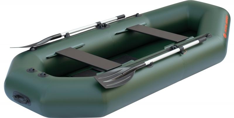 Надувная лодка Колибри К-280T двухместная, слань-коврик