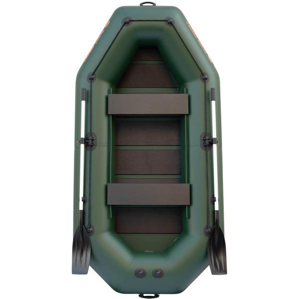Надувная лодка Колибри К-300СT трехместная со слань-ковриком серая