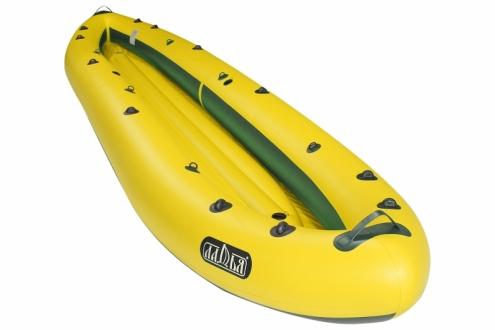 Надувная байдарка Ладья ЛБ-480К Караван базовая желто-зеленая