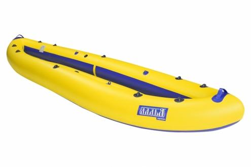 Надувная байдарка Ладья ЛБ-400К Караван базовая желто-синяя