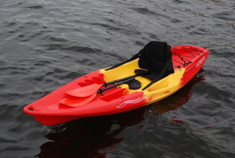 Каяк Колибри OnWave-300, туристический (одноместный), красный