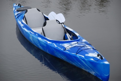 Каяк Колибри Twin-Go!, туристический (двухместный), синий