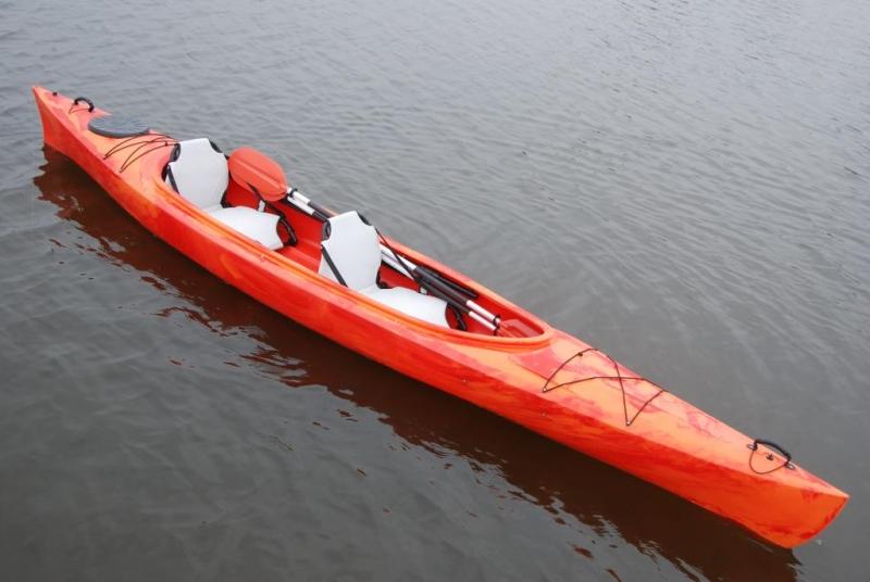 Каяк Колибри Twin-Go!, туристический (двухместный), красный