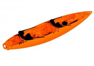 Каяк Колибри TwinWave-400, туристический (двухместный), оранжевый