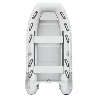 Надувная моторная килевая лодка Колибри KM-360DXL килевая серия Explorer настил из алюминия