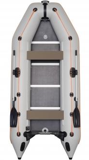 Надувная моторная килевая лодка Колибри КМ-360D пятиместная c алюминиевым пайолом
