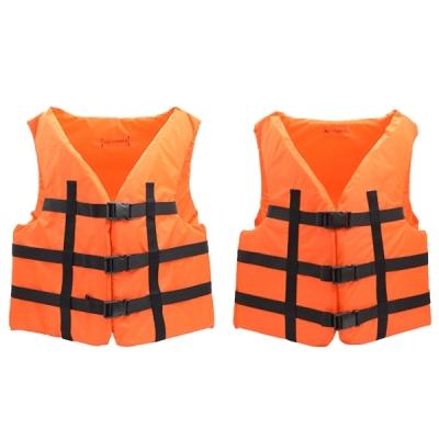 Комплект страховочных жилетов 90-110 кг и 110-130 кг оранжевые