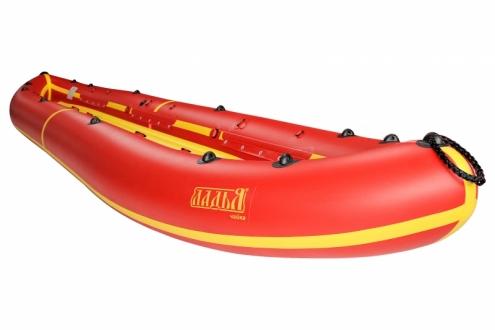 Надувная байдарка Ладья ЛБ-480-3 Чайка базовая желто-красная