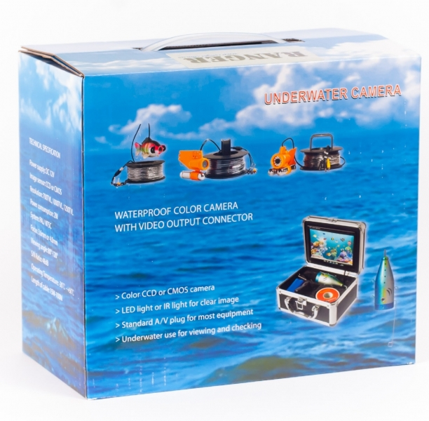 Подводные видеокамеры с записью видео Ranger Lux Record, подводная камера с записью видео, цветная подводная видео камера для рыбалки