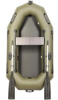 Лодка ПВХ полуторка Bark В-220D легкая одноместная надувная лодка, резиновая лодка 1 местная надувная